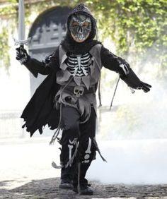 skeleton knight boys costume