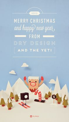 Christmas with the Yeti by Dry Design , via Behance