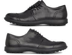 Twins come as black lace up shoes made of full grain leather.
