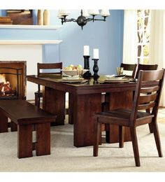 Contemporary but not too modern.  Organic, natural, substantial and relaxed.  This is how we describe the Tulare dining room set.  With its double pedestal base and figured walnut veneers this is the table your friends and family will covet.