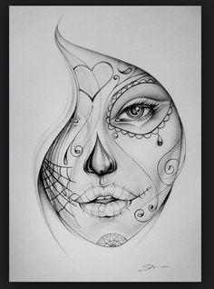 Get La Muerte Tattoo. Still looking for design, placement - thigh Bucket List. Get La Muerte Tattoo. Still looking for design, placement - thigh. Get La Muerte Tattoo. Still looking for design, placement - thigh. Sketch Tattoo Design, Sketch Design, Tattoo Sketches, Drawing Sketches, Tattoo Drawings, Pencil Drawings, Art Drawings, Drawing Art, Drawing Step