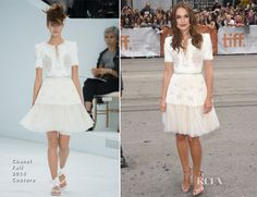 Keira Knightley In Chanel Couture – 'The Imitation Game' Toronto Film Festival Premiere