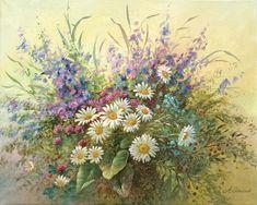 """""""Vasaros gėlės"""" 40x50 cm. akrilas, drobė."""