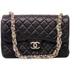 Pre-owned Chanel Black Lambskin Westminster Pearl Flap Bag (103,470 MXN) ❤ liked on Polyvore featuring bags, handbags, bolsa, handbags and purses, shoulder bags, quilted handbags, evening purses, evening handbags, quilted hand bags and chanel purse