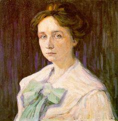 Gabriele Münter by Wassily Kandinsky, 1905 oil on canvas