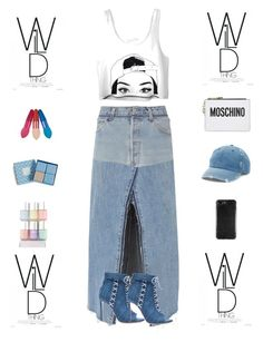 """""""All Eyes On You"""" by liyahmystyle ❤ liked on Polyvore featuring RE/DONE, Oscar Tiye, Vera Bradley, Moschino and Mudd"""