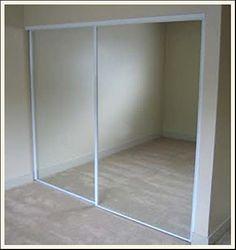 On pinterest door makeover closet doors and mirror closet doors