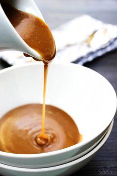 Peanut Butter Caramel Sauce - A Dash of Sanity