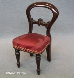 https://flic.kr/p/AztyAA   Doll's house dining chair, about 1840   Dining table from Rigg Doll's house, about 1840.  On display at Tunbridge Wells Museum & Art Gallery.