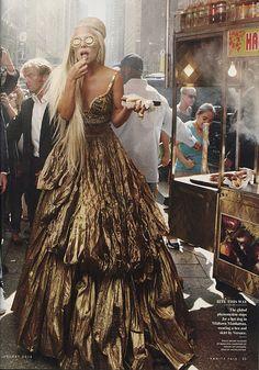 Lady Gaga wearing House of Lavande earrings in Vanity Fair