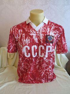 18a007b9b SOVIET UNION CCCP RUSSA USSR FOOTBALL SHIRT HOME 1989 1990 1991 NEAR MINT M  RARE in