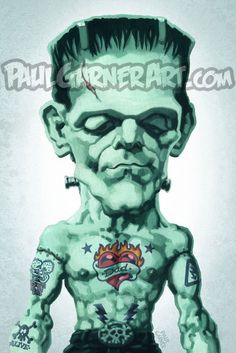 """Tattoo Frankie - 16"""" x 12"""" signed art print"""
