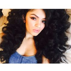 Pretty Girl Swag Beauty Curly Thick Long Black Hair Curls Rock Mixed Chicks Ebony.webster