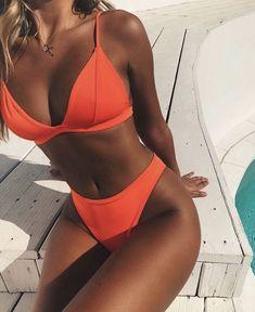 Solider Brasilianischer Bikini-Badeanzug mit hohem Bein und Dreieck – Zweiteiler… Solid Brazilian Bikini Swimsuit with High Leg and Triangle – Two Piece Solid Brazilian Bikini Swimsuit with High Leg and Triangle – Two Piece Suit – Swimsuits – Sexy Bikini, Brasilianischer Bikini, Bikini Sets, Bikini Babes, Bikini Girls, Women Bikini, Girls In Bikinis, Sequin Bikini, High Leg Bikini