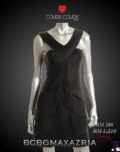 SellPin.com: Pins for Sale by Owner: 77% OFF! Only @ USD 87  BCBG Max Azria Satin Accordion Pleated Double V-Neck Little Black Dress - 100% Authentic Guaranteed!  Brand New With Tag   Retail Price: USD 378  Size: 0 / XS  Measurements: Bust: 32-33 INCHES Waist: 24-25 INCHES Hips: 36 INCHES Length: 33 INCHES Closure: Back Zipper  Color: Black  Materials/Fabrication: Satin  Specialty: Pleated $87