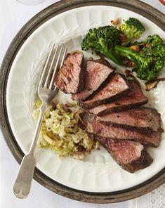Steak with Apple Horseradish Relish at @Anne Dann Plan (omit pepper)