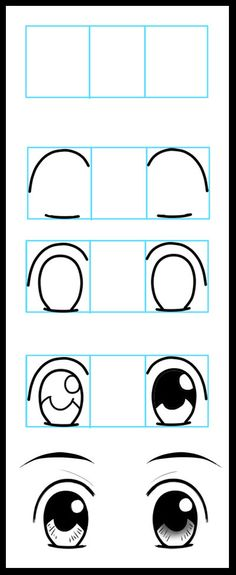 How to Draw Anime Eyes 1 by LeQueen.deviantart.com on @DeviantArt