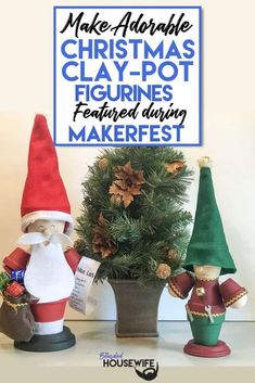 Adorable Christmas Clay-Pot Figurines | The Bearded Housewife