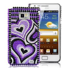 Heart Rhinestone Diamond Case Cover For Samsung Galaxy - Dark PurpleDecorate your Samsung Galaxy with this Heart Rhinestone Diamond Case. Give your phone a splash of color and make it special.Brand new Heart Rhine Galaxy S2, Samsung Galaxy, Dark Purple, Tech, Cases, Messages, Diamond, Phone, Heart