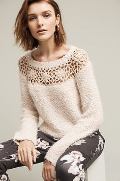 ee396643927a Didion Crocheted Sweater #anthropologie Tunic Sweater, Sweater Outfits,  Sweater Vests, Cardigans,