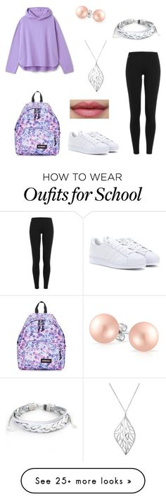 """Back to school"" by secret-girl02 on Polyvore featuring Polo Ralph Lauren, Eastpak, adidas, La Preciosa, Bling Jewelry and West Coast Jewelry"