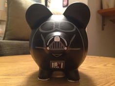 Star Wars Darth Vader pintado hucha de cerámica por KaleyCrafts