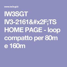 IW3SGT IV3-2161/TS HOME PAGE - loop compatto per 80m e 160m