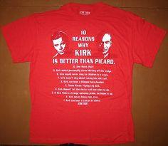 "STAR TREK vs TNG | ""10 Reasons Why KIRK Is Better Than PICARD"""