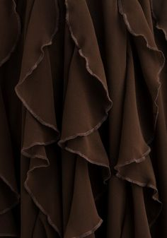 Beautiful brown folds of diaphanous fabric. Brown Aesthetic, Aesthetic Colors, Cocoa, Brown Shades, Pantone Color, Chocolate Brown, Chocolate Color, Color Inspiration, Favorite Color
