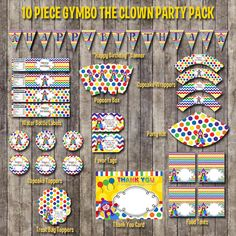 INSTANT DOWNLOAD Gymboree Gymbo the Clown by IrrelephantDesigns