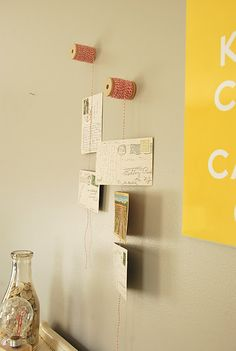 wall decor-postcard display