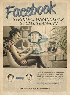 Some social media fun to kick start the week. Here are some great vintage/retro social media ads made by Moma Propaganda, a Brazilian Ad agency. Learn more about the story behind them at Top Design Mag. Retro Ads, Vintage Advertisements, Vintage Ads, Vintage Posters, Vintage Style, Retro Style, Funny Vintage, Vintage Images, Vintage Inspired
