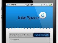 Jokespace-log-in