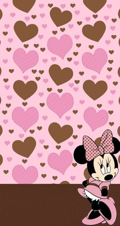 Wallpapers Mickey, Wallpaper Do Mickey Mouse, Arte Do Mickey Mouse, Minnie Mouse Images, Disney Mouse, Disney Phone Wallpaper, Heart Wallpaper, Cellphone Wallpaper, Pink Wallpaper