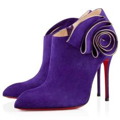 Get the must-have boots of this season! These Christian Louboutin Purple Ankle Heels Boots/Booties Size US Regular (M, B) are a top 10 member favorite on Tradesy. Heeled Boots, Bootie Boots, Shoe Boots, Suede Booties, Ankle Heels, Ankle Boots, Fashion Heels, Sneakers Fashion, Louboutin High Heels