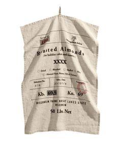 Linen Tea Towel | Product Detail | H&M