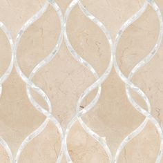 Artistic Tile | Claridges in Crema Marfil & Shell #tile #stone #mosaic #shell