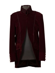 Would love to see my man in this - Wine Red Long Sleeves Mens Gothic Coat