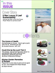 Green Therapy and Natural Health Magazine Issue 3 - featuring a 5 star Green Getaway in Costa Rica, more possible cures with Coconut, Shocking information about your Teeth, Essential Oils on the Go, and much more! Green Therapy and Natural Health Magazine is an iPad magazine on the Apple Newsstand. You can get it here: http://itunes.apple.com/us/app/green-therapy-natural-health/id540564673?ls=1=8