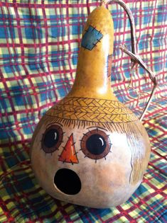 Handpainted Scarecrow Gourd Birdhouse by ObladeeObladebb on Etsy1121 x 1500 | 526.9 KB | www.etsy.com