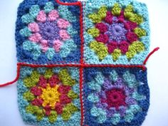 joining granny squares.