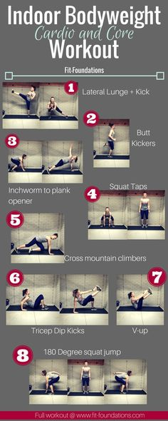 cardio workout: Fun indoor cardio/core for cold days Bodyweight Cardio workout; no equipment needed workoutBodyweight Cardio workout; no equipment needed workout Cardio Training, Weight Training, Body Training, Po Trainer, Jump Workout, Workout Fitness, Workout Plans, Indoor Workout, House Workout