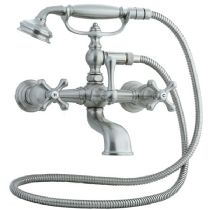 Cifial 272.330.625 Polished Chrome Asbury Claw Foot Tub Filler W/ Porcelain Lever Handles