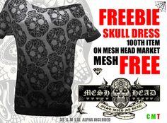 Mesh Head - Long Skull Sweater - All Sizes - FREE