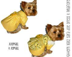 Sara Joe Dog Dress Pattern 1682 * XXSmall & XSmall * Dog Clothes Pattern * Dog Harness Dress * Ruffle Dog Dress * Dog Apparel * Pet Dresses