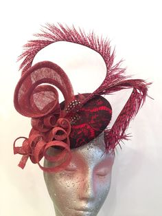 A personal favourite from my Etsy shop https://www.etsy.com/hk-en/listing/526883175/red-fancy-fascinator-cocktail-party