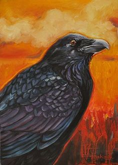 "Crows Ravens:  #Raven ~ ""Coal and Fire,"" by Tahirih C. Goffic."