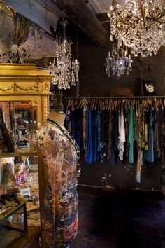 Vintage fashion boutique