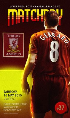 Steven Gerrard will lead Liverpool onto the pitch at Anfield for the final time today. Premier League Soccer, Premier League Champions, Liverpool Football Club, Liverpool Fc, Stevie G, Crystal Palace Fc, Uefa Super Cup, Liverpool Legends, Captain Fantastic