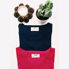 Sometimes to choose is hard!  #choose #organic #hard #cactus #light #candle #pink #blue #navy #navyblue #lifestyle #style #vneck #tee #tshirt #options